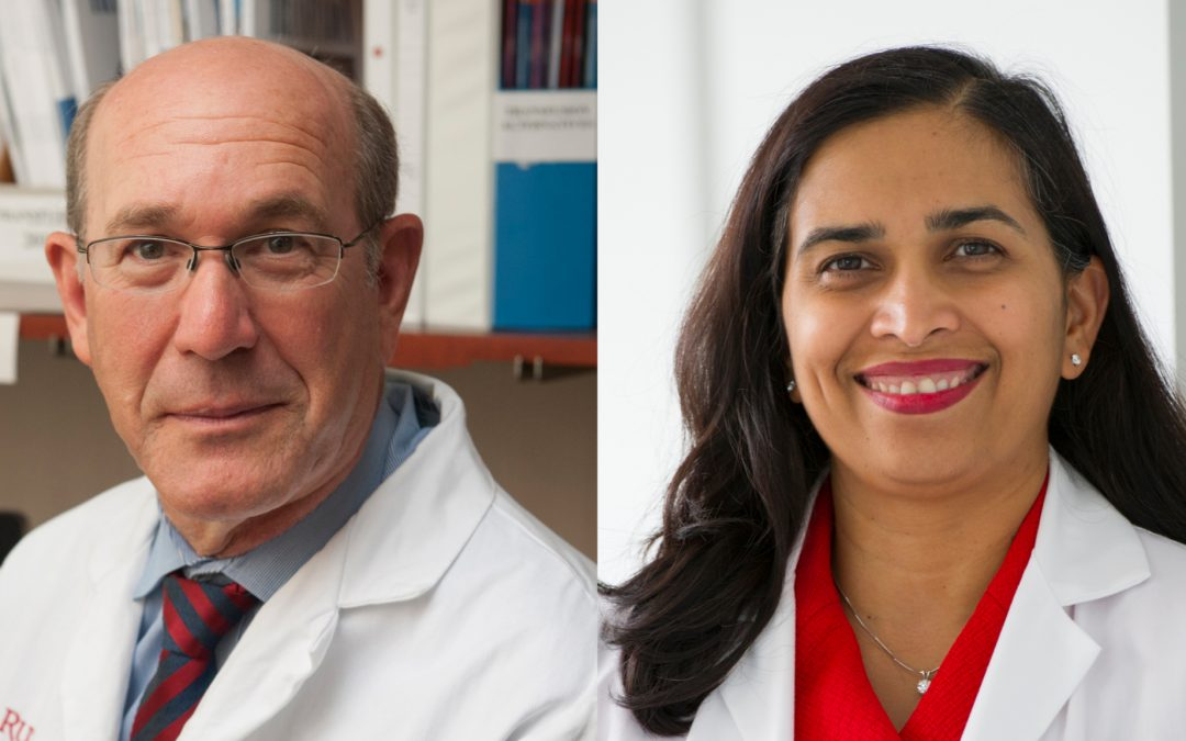 Two professors of medicine lead clinical trials at Rutgers to facilitate the testing of the COVID-19 vaccines produced by Johnson & Johnson and Pfizer-BioNTech.